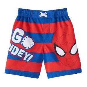 Baby Boy Spiderman Swim Trunks Size 12 Mo.